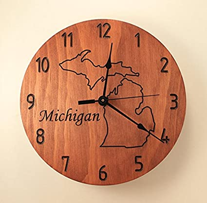 Amazon 105 inch custom state clock wood clock wall clock 105 inch custom state clock wood clock wall clock wooden wall clock map decor united states gumiabroncs Images