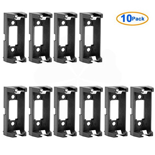 10 Pcs CR123A CR123 Lithium Battery Holder Box Clip Case w PCB Solder Mounting Lead by Uptell
