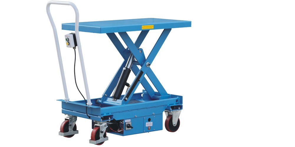 Eoslift ETA 50 Eoslift Electric / Powered Heavy Duty Mobile Hydraulic Dual Scissor Lift Table 1100 Lbs.Capacity Durable and Reliable Suitable For Warehouse, Factory, Shop or Office. by Eoslift