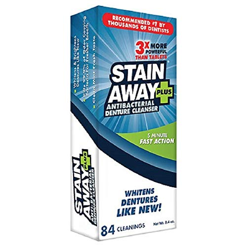 STAIN-AWAY PLUS DENTURE CLEANSER