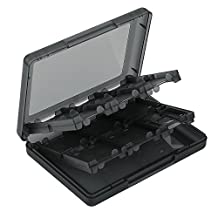ASIV 28 in 1 Video Game Card Case Holder for Nintendo NDS NDSI 2DS 3DS 3DS LL 3DS XL (Black)