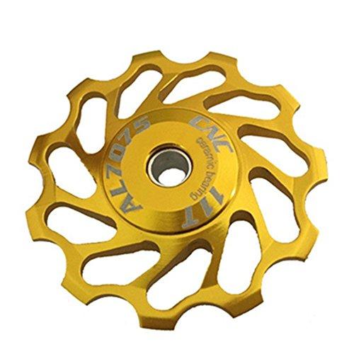 Bicycle Rear Derailleur Pulley Aluminum Bike Ceramic Bearing Jockey Wheel 11T - Derailleur Deore Rear Lx