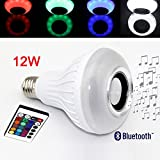 KRexpress LED RGB Color Bulb Light E27 Bluetooth Control Smart Music Audio Speaker Lamps