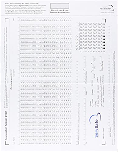 Servsafe exam answer sheet for pencil paper exam stand alone servsafe exam answer sheet for pencil paper exam stand alone with cardboard backer package 6th edition 6th edition fandeluxe Choice Image