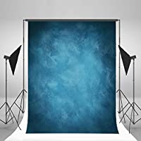 Laeacco Design 5x7ft Vinyl Photography Backdrops Solid Color Blurry Blue Personal Portraits Photo Background ,1.5x2.2m Studio Props