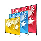Display Factory USA 8' Telescopic Photography Banner Stand Step and Repeat Display Adjustable Backdrop Wall Trade Show Background Stand (Renewed)