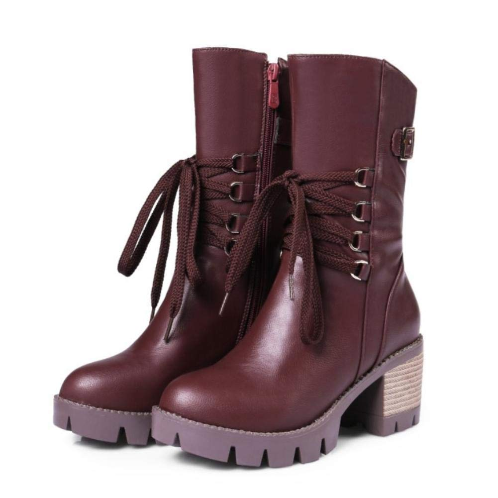 NVXUEZIX Damen Schuhe Kunstleder Herbst Winter Komfort Neuheit Modische Stiefel Stiefeletten Stiefel Für Hochzeit Normal Schwarz Braun Wein