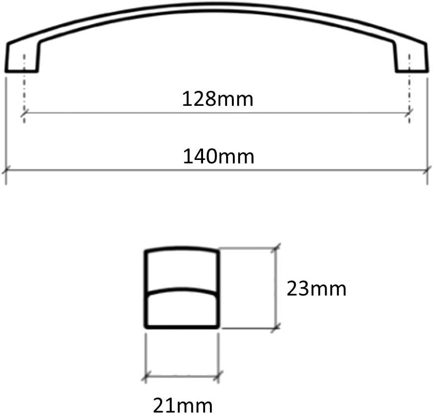 128 mm Set di 4 Maniglie per cassetto Armadio cromate Aerzetix C41697 Guardaroba