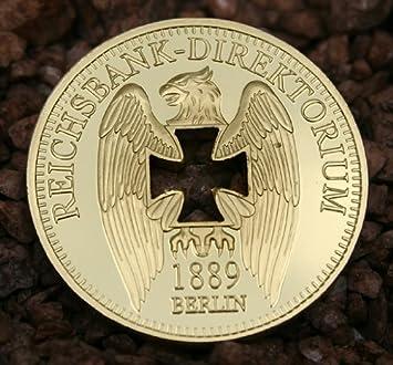 Reichsbank Direktorium Gold Goldmünze Münze 1 Oz 999 Vergoldet Neu