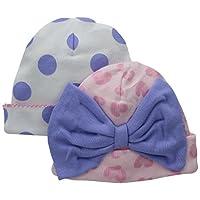 Gerber Baby-Girls Novelty Cap, Flowers, 0-6 Months (Pack of 2)
