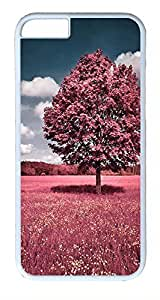 IMARTCASE iPhone 6 Case, Beautiful Pink Flower Field iPhone 6 Case TPU White