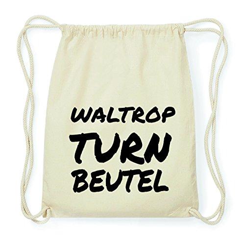 JOllify WALTROP Hipster Turnbeutel Tasche Rucksack aus Baumwolle - Farbe: natur Design: Turnbeutel