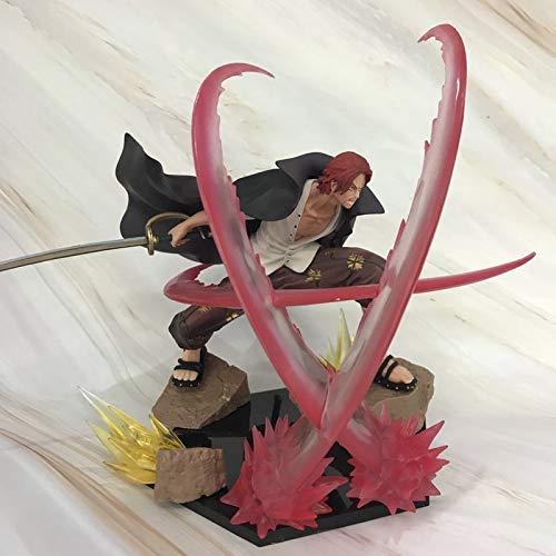 LULUDP LULUDP LULUDP Anime-Modell Cartoon Charakter Dekoration Einteiliges Rotes Haar Shanks Büro Dekorationen, Collectibles, Desktop Dekorationen, Geschenke, Auto Dekoration 17 cm B07NV4PCBZ | Louis, ausführlich  46e34e