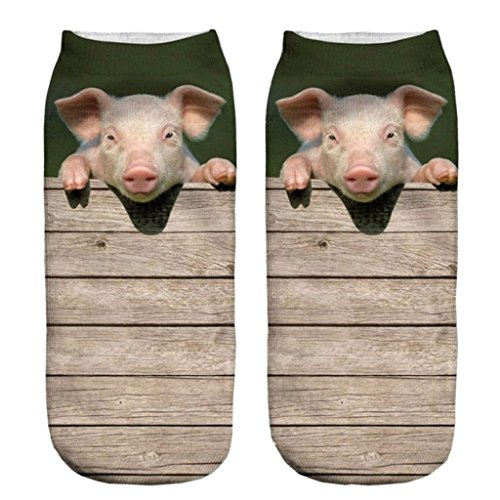 Price comparison product image Funny Sock Pig Cartoon Animal Print For Woman Man Boy Girl Free Size