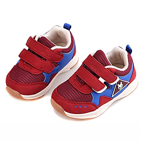 Unisex-Child Casual Functional Shoes Breathable Mesh Sneakers Convenient Velcro for 1-6Years Girls' Burgundy (Tennis Big Time Rush)