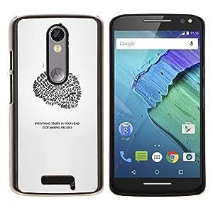 Stuss Case / Funda Carcasa protectora - Todo comienza en su cabeza - Motorola Moto X3 3rd Generation