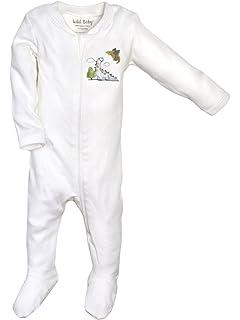 Beryl of Monkeys Unisex-Baby Newborn Organic Footie Sleeper