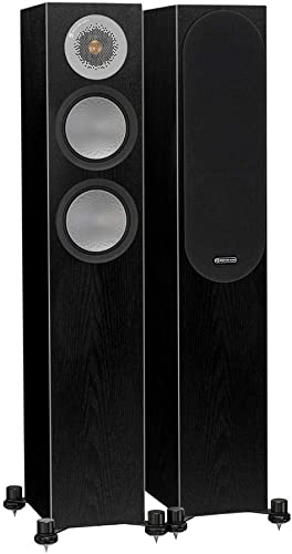 Monitor Audio – Silver RX-6 – 2 1 2 2-Way Floorstanding Speaker – Each – Black Oak