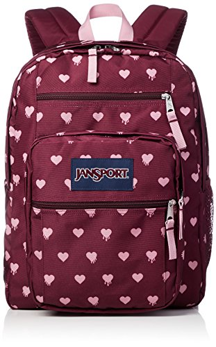 JanSport Unisex Big Student Russet Red Bleeding Hearts One Size