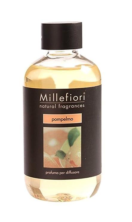 Millefiori POMP Elmo Botella 250 Ml Para Natural Ambientador difusor, plástico, amarillo, 6.3