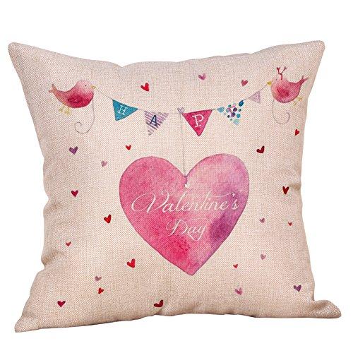 ne's DecorativeThrow Pillow Case Sweet Love Square Cushion Cover45x45 cm ()