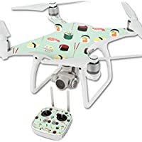 MightySkins Skin For DJI Phantom 4 Quadcopter Drone – Sushi Protective, Durable, and Unique Vinyl Decal wrap cover | Easy To Apply, Remove, and Change Styles | Made in the USA