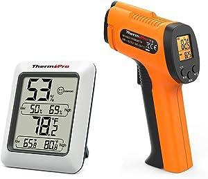 ThermoPro TP50 Digital Hygrometer Indoor Thermometer TP30 Digital Infrared Thermometer