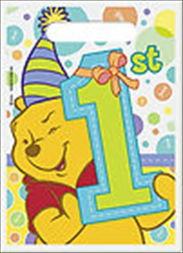 Winnie the Pooh Boy or Girl 1st Birthday Favor Bags (8ct)