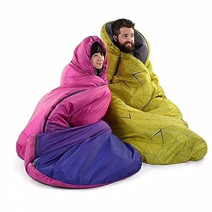 SUHAGN Saco de dormir Piscina Amplia Bolsa De Dormir Adulto El Otoño Y El Invierno Camping