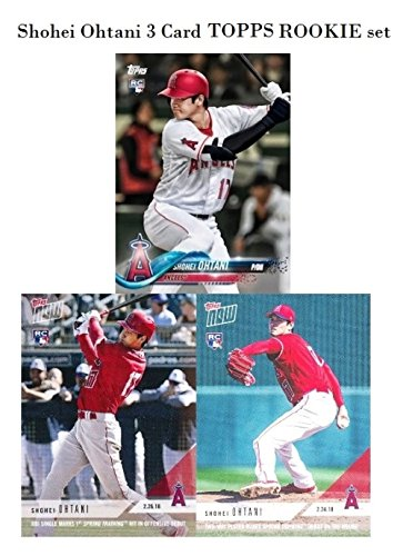 Angels Baseball Memorabilia - SHOHEI OHTANI 2018 Topps FIRST EVER PRINTED TOPPS ROOKIE Card Set Los Angeles Angels! Includes THREE (3) Limited Edition Special MINT Rookies of Japan's Babe Ruth! Shipped in Ultra Pro Top Loaders!