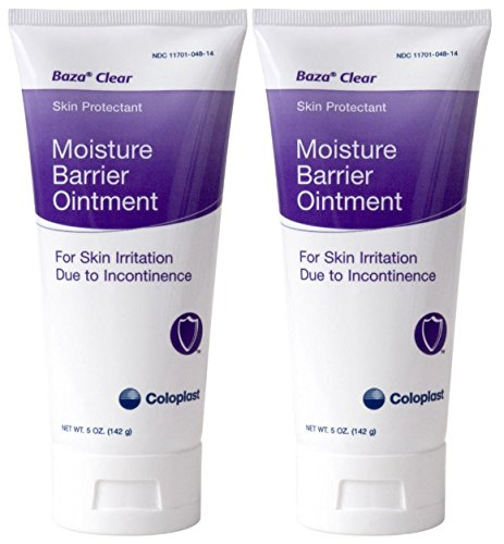Baza Clear Moisture Barrier Ointment 5 oz Tube - Pack of 2 Skin Protectant Moisture Barrier
