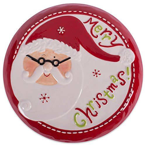 DII Ceramic Santa Cake Plate with Stand, ()