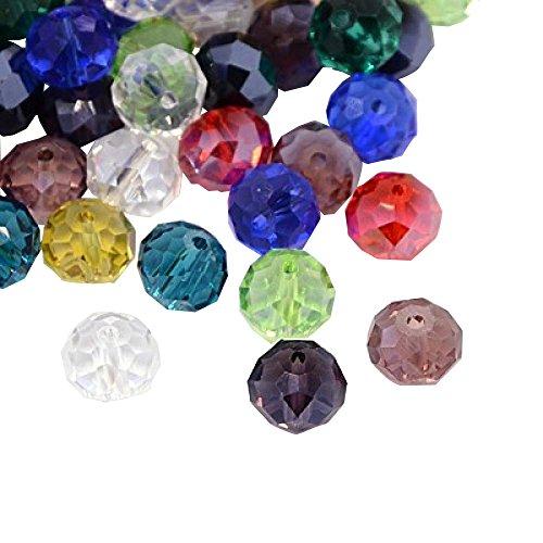Pandahall 144PCS Mixed Color Faceted Abacus Crystal Suncatcher Glass Beads, 10x7mm, Hole: - Suncatchers Wholesale