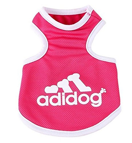 OCSOSO Pet Tank T-shirt Top Summer Dog Outfits Teacup Dog Clothes for Small Dogs (Pink,S)