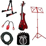 Red Meisel Electric Violin Deluxe w/Accessories