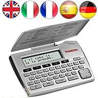 Franklin 5-Language Electronic Translator English German French Spanish Italian 5-Language European Translator Device - Silver ET2105