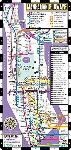 Streetwise Manhattan Bus Subway Map Laminated Metro Map of