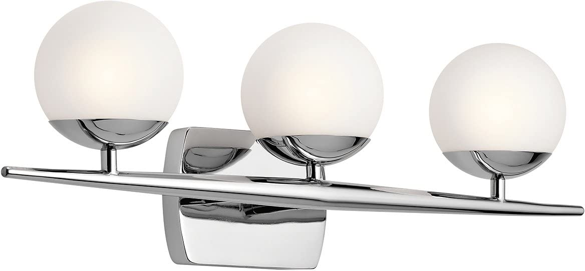 Kichler 45582CH Jasper 3-Light 3-Arm Bath Vanity in Chrome