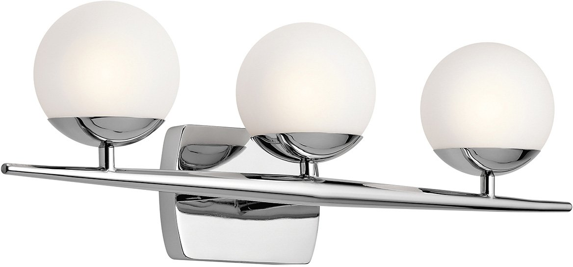 Kichler 45582CH Jasper 3-Light 3-Arm Bath Vanity in Chrome