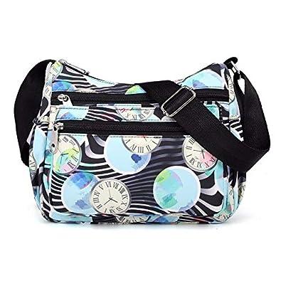 Amazon.com: Waterproof Nylon Women Messenger Bags Handbag ...