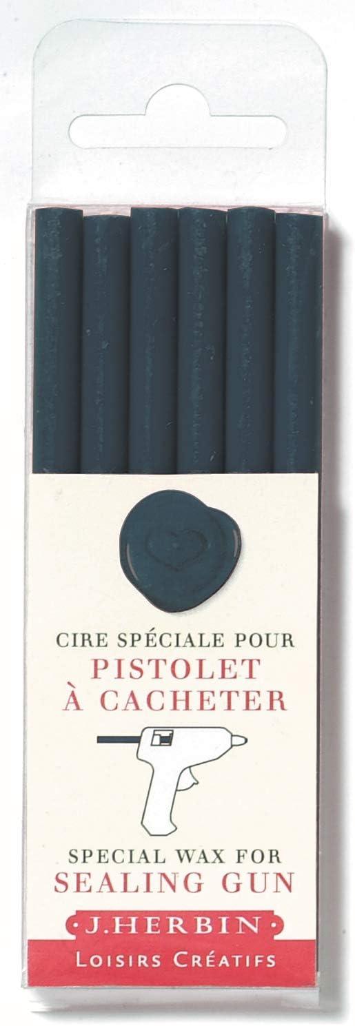Georges Lalo Crayons de cire pour pistolet B/âtons Bleu Fonc/é