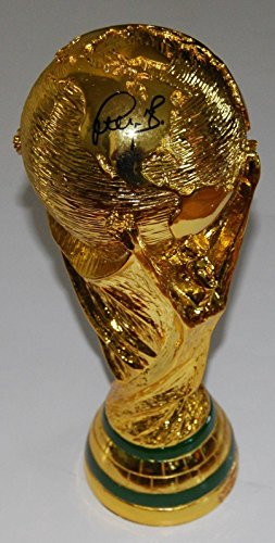 ER signed (2014 FIFA WORLD CUP) BRAZIL TROPHY *GERMANY* COA - Soccer Autographed Miscellaneous Items (Fifa World Cup Trophy)