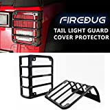 Firebug Jeep Tail Light Covers, Jeep Light Covers, Jeep Light Guard, Jeep Wrangler Tail Light Guards Cover, Automotive Accessories Lights Covers, Jeep Rear Light Protectors, Jeep Tail Light Protectors Stainless Steel Matte Black