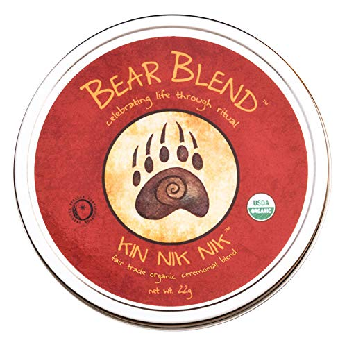 Bear Blend Organics Ceremonial Herbal Smoking Blend - Handcrafted Nicotine-Free Tobacco Alternative Used With Herbal Cigarettes, Pipes, and Tea (Kin Nik -