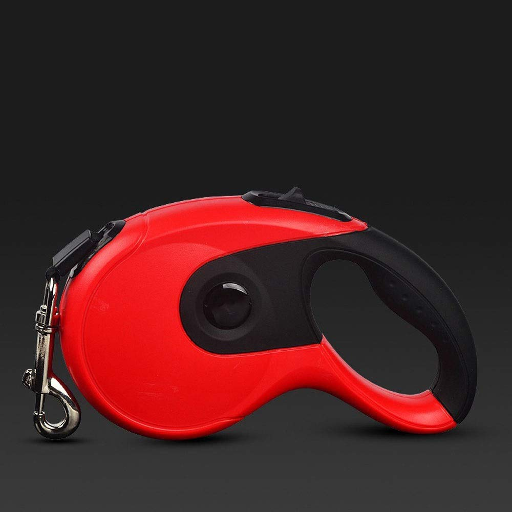 FANQIECHAODAN Retractable Dog Leash Walking Lead Leash for Small&Medium&Large Dogs Training,Walking,Jogging,8 M,Green,orange,Red,White (color   Red)