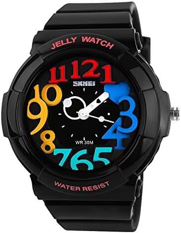 Children's Students Fashion Waterproof Jelly Quartz Sports Watches