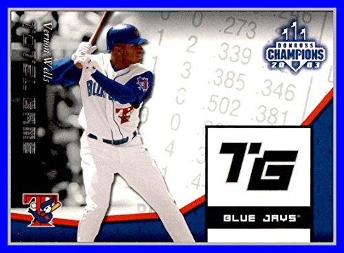 2003 Donruss Champions Total Game #24 Vernon Wells TORONTO BLUE JAYS