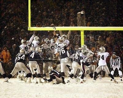Size 16x20 Adam Vinatieri Patriots snow bowl winning field goal 8x10 11x14 16x20 photo 181