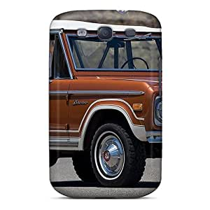Galaxy S3 Case Cover - Slim Fit Tpu Protector Shock Absorbent Case (1973 Ford Bronco)