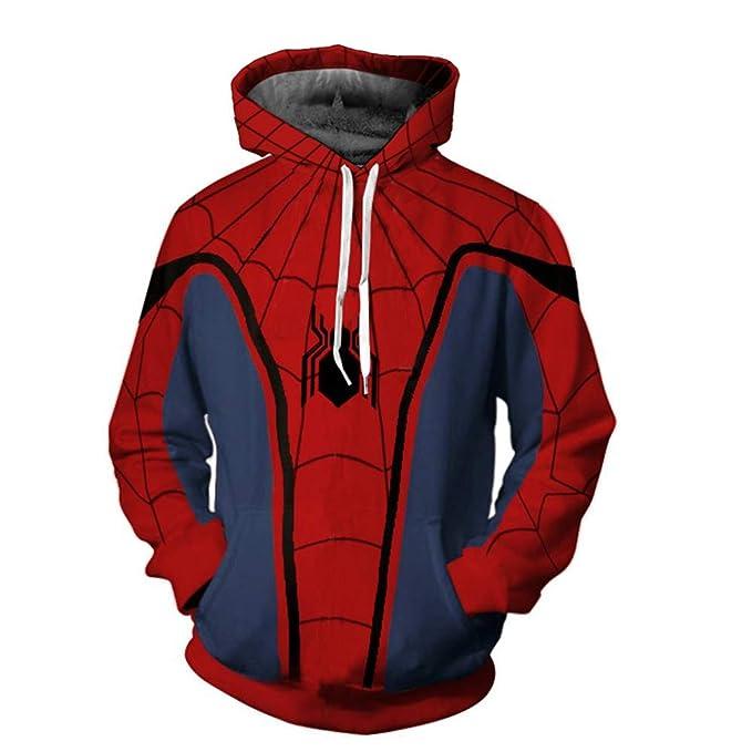 Lzh3D Sudaderas con Capucha Unisex Impresión 3D Sudadera con Capucha Camiseta De Béisbol Cosplay Anime Spiderman: Amazon.es: Ropa y accesorios